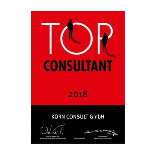 Awarded as Top Consultant of the Year 2018